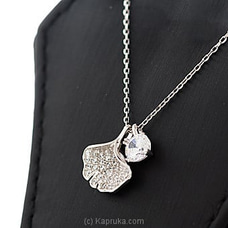 Stone Pendant With Silver Necklace By Swarovski at Kapruka Online forspecialGifts