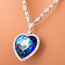 Blue Crystal Pendant With Necklace  By Swarovski at Kapruka Online forspecialGifts