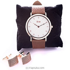 Men`s Watch & Cufflinks Gift Set By Stone N String at Kapruka Online for specialGifts