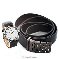 Men`s Watch And Belt Gift Set By Stone N String at Kapruka Online for specialGifts