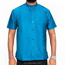 Homins Handloom Short Sleeve Light Blue Shirt at Kapruka Online for specialGifts