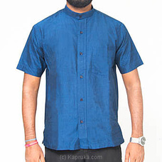 Homins Handloom Short Sleeve Dark Blue Shirt at Kapruka Online for specialGifts