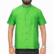 Homins Handloom Short Sleeve Green Shirt at Kapruka Online for specialGifts