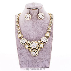 White Stone Jewelry Set ( Necklace And Earrings Set) By Swarovski at Kapruka Online forspecialGifts