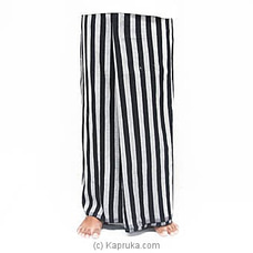 Ash With Black Stripes Handloom Sarong at Kapruka Online