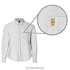 Trinity College Long Sleeve Shirt-Formal White By Trinity College at Kapruka Online forspecialGifts
