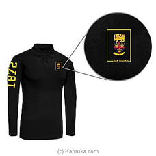 Trinity College Long Sleeve Polo Shirt-Black By Trinity College at Kapruka Online for specialGifts