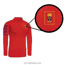 Trinity College Long Sleeve Polo Shirt-Red By Trinity College at Kapruka Online for specialGifts