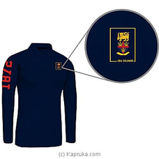 Trinity College Long Sleeve Polo Shirt-blue at Kapruka Online