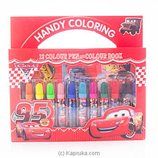 Lightning McQueen Coloring Pen Box at Kapruka Online
