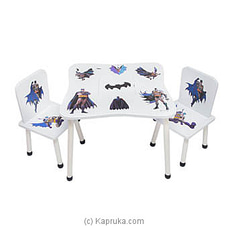 Batman Table And Chair Set By Brightmind at Kapruka Online for specialGifts