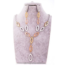 Crystal Necklace & Earing Set By Stone N String at Kapruka Online for specialGifts