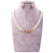 Ruby Necklace & Earing Set By Stone N String at Kapruka Online for specialGifts