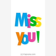 Miss You Greeting Cardat Kapruka Online for specialGifts