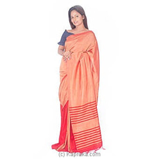 Red And Orange Rayon Saree By Islandlux at Kapruka Online for specialGifts