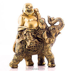 Feng Shui Laughing Buddha On Elephant Statue By HABITAT ACCENT at Kapruka Online forspecialGifts