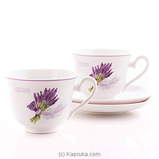 Lavender Tea Cup And saucer Gift Set By HABITAT ACCENT at Kapruka Online forspecialGifts