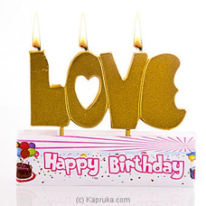 Love You Party Candles at Kapruka Online