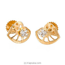 22 KT Ear Stud With C/Z - ES0000895 By SWARNA MAHAL at Kapruka Online for specialGifts