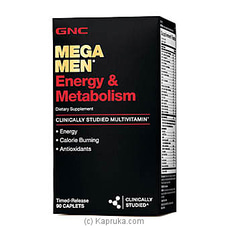 GNC Mega Men Energy Metabolism - 90 Caplets By GNC at Kapruka Online for specialGifts