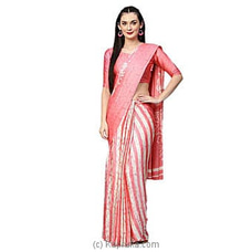 Printed Poly Crepe Saree (Pink)at Kapruka Online forspecialGifts