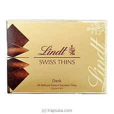 Lindt Swiss Thins Dark -125g By LINDT at Kapruka Online for specialGifts
