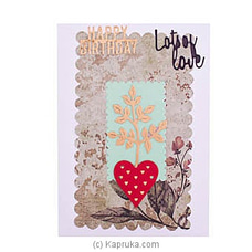 Handmade Happy Birthday Greeting Card at Kapruka Online