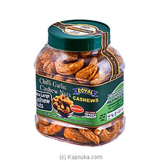 Royal Cashews Chili  Garlic Cashew Bottle-250g By Royal Cashews at Kapruka Online for specialGifts