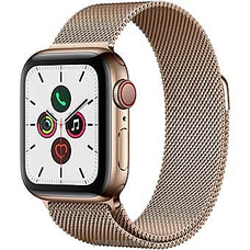 Apple IWatch Series 5 - 44mm Gold Aluminum GPS + Cellular - Milanese Loop By Apple at Kapruka Online for specialGifts