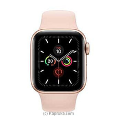 Apple IWatch Series 5 - 44mm Gold Aluminum GPS + Cellular - Pink Sand Sport Band By Apple at Kapruka Online for specialGifts