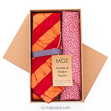 Gents Batik Tie- Red And Orange Stripes By MOZ at Kapruka Online forspecialGifts