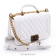 Chanel White Leather Bag By CHANEL at Kapruka Online for specialGifts