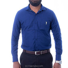 Golf Long Sleeve Corporate Shirt - Navy Blue - at Kapruka Online