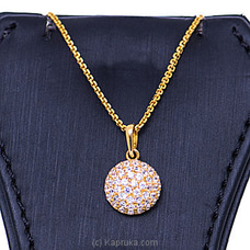 Vogue 22K Gold Pendant With 52(c/z) Rounds By Vogue at Kapruka Online for specialGifts