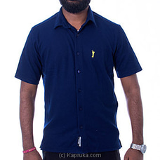 Golf Short Sleeve Shirt - Navy Blue - By Urban Golf at Kapruka Online for specialGifts