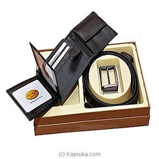 P G Martine Gift Box (EDM Gents Wallet +Double Side Leather Belt ) By P.G MARTIN at Kapruka Online for specialGifts
