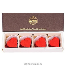 Java Milk With Hazelnut Praline 4 Piece Chocolate Box By Java at Kapruka Online for specialGifts