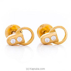 Vogue 22K Ear Stud Set With 4 Cz Rounds at Kapruka Online