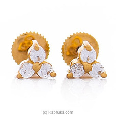 Vogue 22K Ear Stud Set With 6 Cz Rounds By Vogue at Kapruka Online forspecialGifts