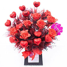 Red Rose Hearts By Sweet Buds at Kapruka Online for specialGifts