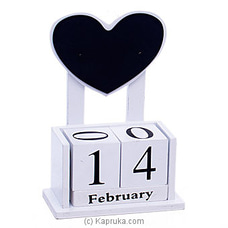 Wooden Heart Desk Calendar Ornament By Habitat Accent at Kapruka Online for specialGifts
