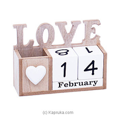 Wooden Desk Calender Ornament By Habitat Accent at Kapruka Online for specialGifts