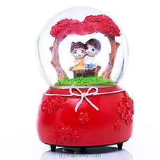 Musical Couple On Bench Crystal Ball Ornament By Habitat Accent at Kapruka Online forspecialGifts
