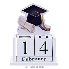 Wooden Graduation Hat Desk Calender Ornament FORHIM at Kapruka Online
