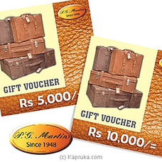 P.G. Martin Gift Voucher By P.G MARTIN at Kapruka Online for specialGifts