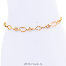 22kt Gold Bracelet Set With Cubic Zirconia (B512-1) By Mallika Hemachandra Jewellers at Kapruka Online for specialGifts