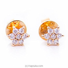 18k Rose Gold Earrings With VVS DIAMOND (ALE 271 1.3 P PINK) By Alankara at Kapruka Online forspecialGifts