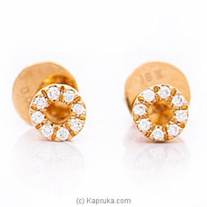 18k Rose Gold Earrings With VVS DIAMOND (FE 058 PINK) By Alankara at Kapruka Online forspecialGifts