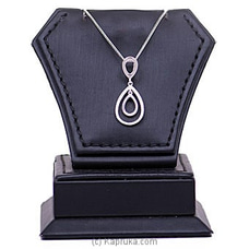 18k White Gold Pendant With Chain (AJP 2668) By Alankara at Kapruka Online forspecialGifts