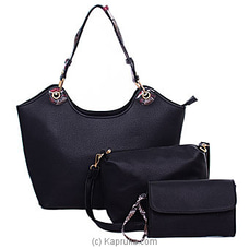 Black Trendy Ladies Handbag at Kapruka Online